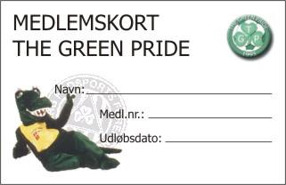 TGP's nye medlemskort, sponsoreret af Borved Grafisk